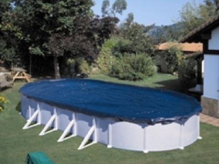 B che d 39 hivernage pour piscine hors sol 910 x 470 cm kit for Bache pour piscine hors sol
