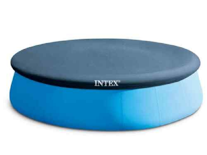 Intex Couverture de Piscine Ronde 396 cm Protection Bâche de Piscine de Jardin