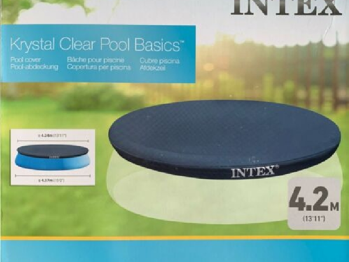 Intex Bâche de Protection Piscine Cache Couverture Easy 244 305 366 396 457cm