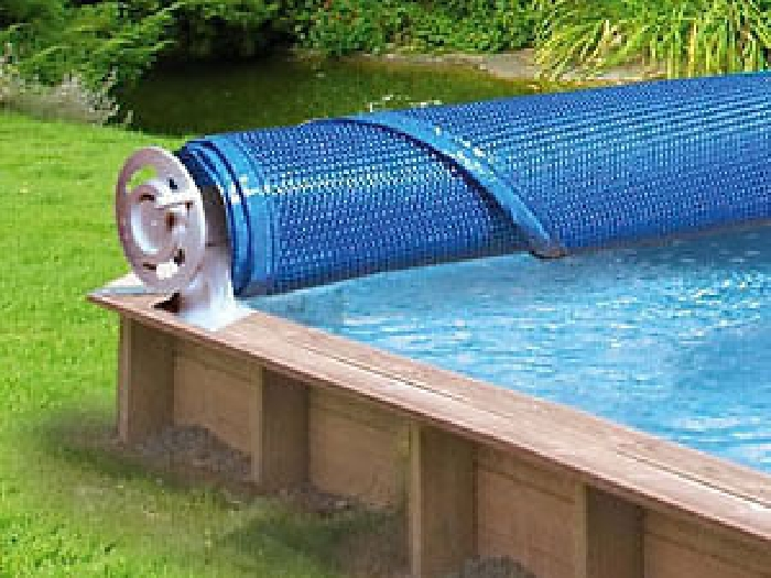 Enrouleur de b che t piscine hors sol kit piscine bois for Bache ete piscine hors sol