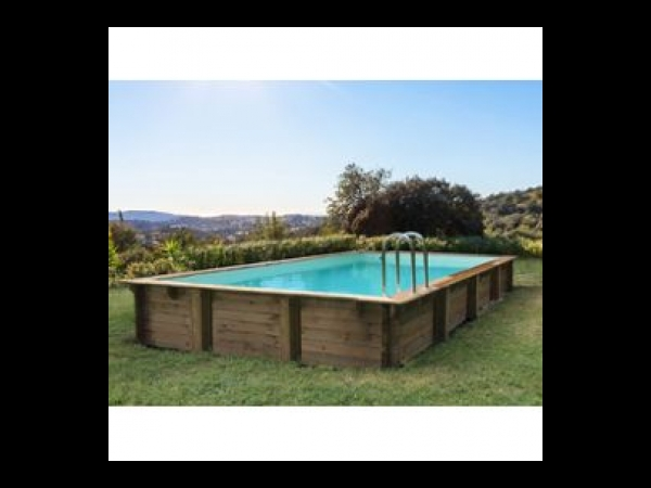 Piscine bois en kit rectangle Sunrise - 8.20 x 5.20 x 1.44 m