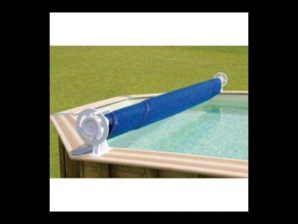 Enrouleur de b che luxe sceller kit piscine bois for Enrouleur bache piscine bois octogonale