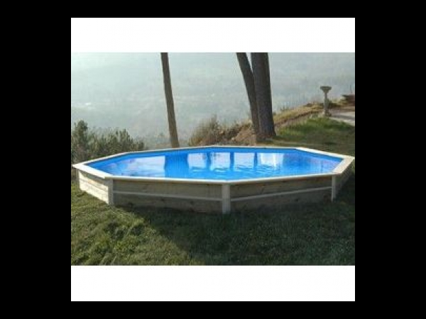 Kit piscine hors sol bois water clip baby 4 20mx0 40m for Kit piscine bois