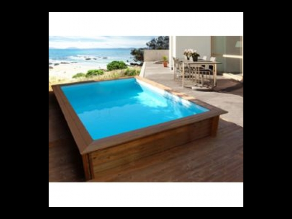 Piscine bois rectangle toledo x x m kit for Piscine acier ovale hydrium 5 00 x 3 60 x 1 20 m