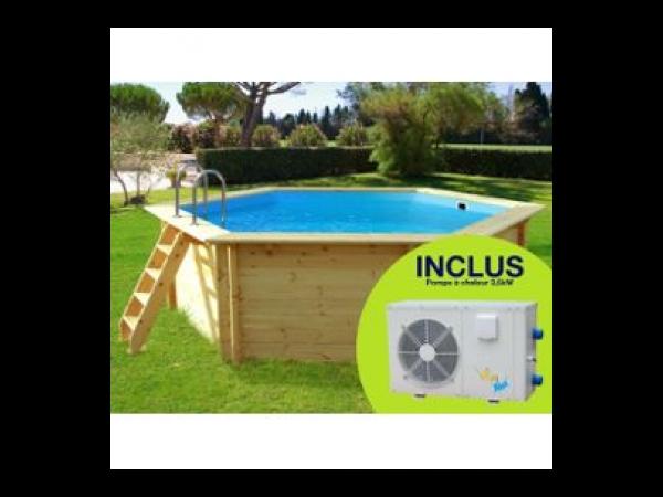 piscine bois hawai - 4.10 x 1.18 m