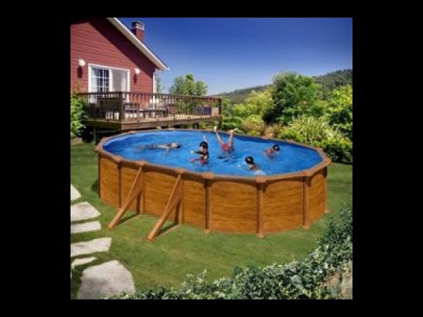 Piscine intex aspect bois for Piscine aspect bois