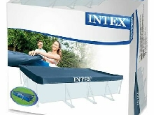 Intex 28039 Bâche Protection Piscine Rectangulaire Hors Sol Bleu 450/220 x 20cm