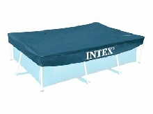 Bâche Protection Piscine Tubulaire INTEX Rectangle Bleu 3.00 x 2.00 x 0.20 m FR
