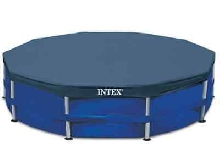 Intex Couverture de Piscine Ronde Bâche Protection de Piscine Multi-taille