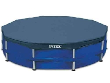 Intex Couverture de Piscine Ronde 366 cm Protection Bâche de Piscine de Jardin