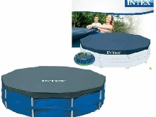 Bâche Protection Piscine Tubulaire Ronde 3.05 à 5.49 m INTEX