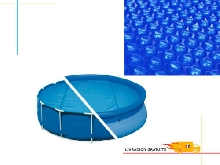 Couverture Film Solaire Baches Chauffe piscines A Bulle Protection Ronde Epais