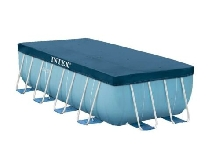 Bâche Protection Piscine Tubulaire rectangle 3,90 x 1,80m Intex