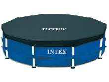 Intex Bâche de Protection Cadre Pool 305 366 457cm Couverture de Piscine