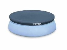 INTEX BACHE POUR PISCINE AUTOSTABLE Ø 4,57 m COUVERTURE PISCINE RONDE GONFLABLE